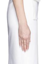 'Eve' diamond white sapphire 9k rose gold ring