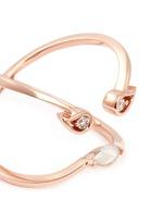 'Florentina' diamond chalcedony 18k rose gold ring