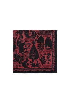 ALEXANDER MCQUEENFairytale print silk scarf