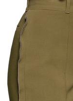 Ruffle trim stretch cady pants