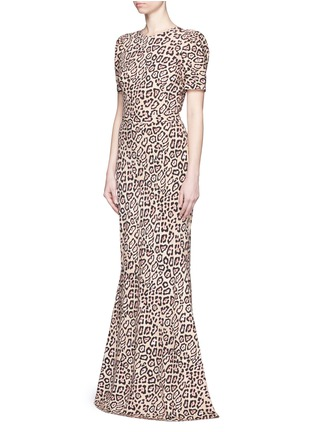 Front View - Click To Enlarge - Givenchy - Jaguar print stretch cady gown
