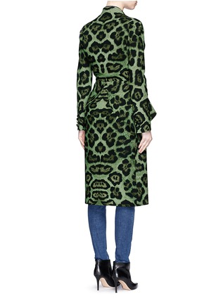 Back View - Click To Enlarge - Givenchy - Large button jaguar print peplum dress coat