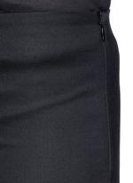 'Caro' stretch wool hopsack capri pants
