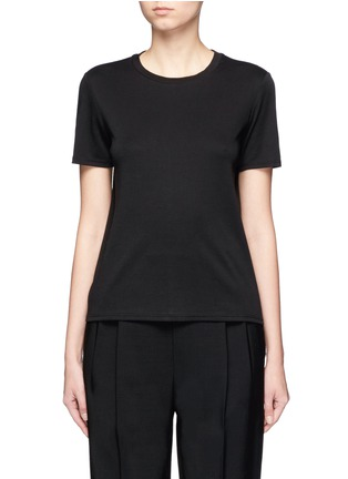 Main View - Click To Enlarge - The Row - 'Wesler' back seam jersey T-shirt