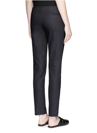 Back View - Click To Enlarge - The Row - 'Tips' techno cotton-blend slim straight pants