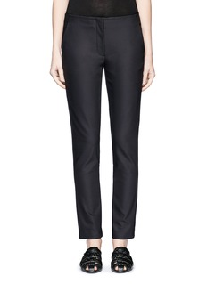 The Row 'Tips' techno cotton-blend slim straight pants