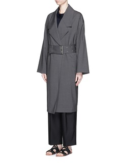 THE ROW 'Kana' wool melangé belted coat