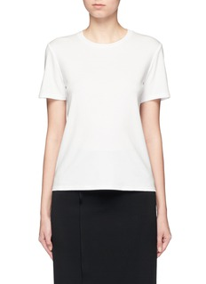 The Row 'Wesler' back seam cotton T-shirt