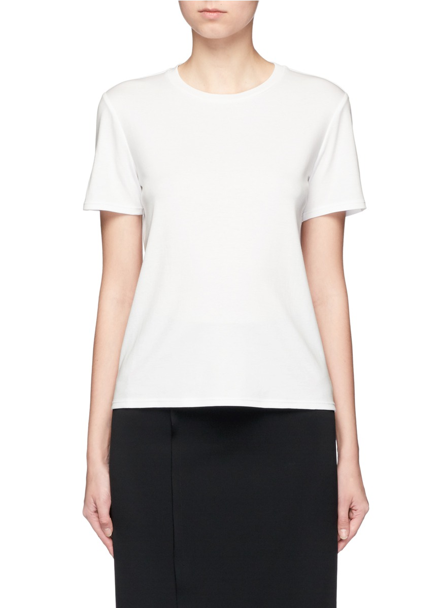 Wesler back seam cotton T-shirt by The Row
