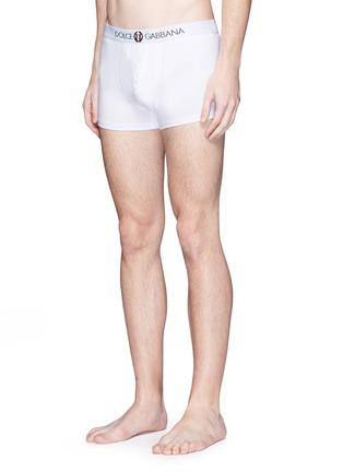 Figure View - Click To Enlarge - Dolce & Gabbana - 'Sport Crest' cotton boxer briefs