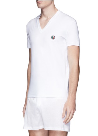 Front View - Click To Enlarge - Dolce & Gabbana - 'Sport Crest' cotton undershirt
