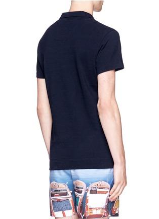 背面 - 点击放大 - ORLEBAR BROWN - 'Felix' mélange cotton piqué polo shirt