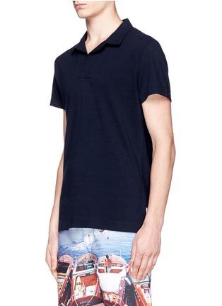 正面 -点击放大 - ORLEBAR BROWN - 'Felix' mélange cotton piqué polo shirt