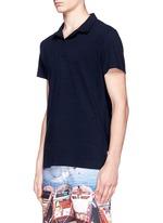 'Felix' mélange cotton piqué polo shirt