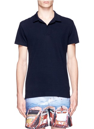 Orlebar Brown-'Felix' mélange cotton piqué polo shirt