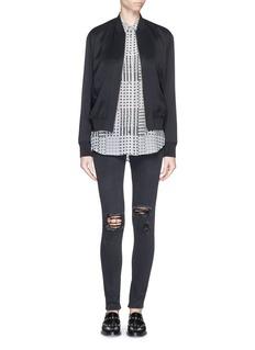 EQUIPMENT'Sleeveless Slim Signature' Trevor plaid silk shirt