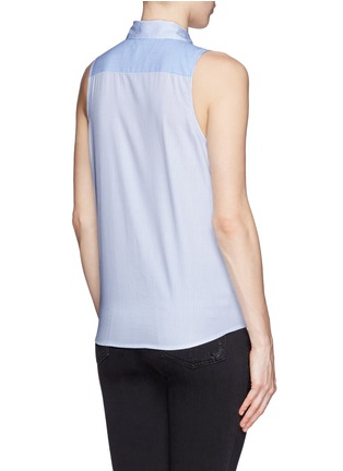 Back View - Click To Enlarge - Equipment - 'Mina Tie Front' stripe sleeveless shirt