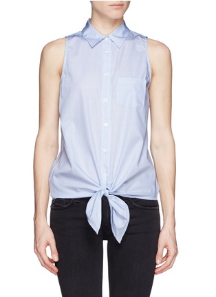 Main View - Click To Enlarge - Equipment - 'Mina Tie Front' stripe sleeveless shirt