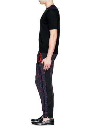 Figure View - Click To Enlarge - Dries Van Noten - 'Pyor' illustration print drawstring pants
