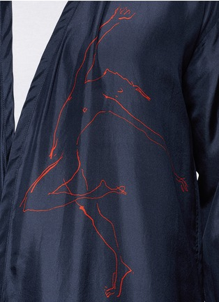 Detail View - Click To Enlarge - Dries Van Noten - 'Vellano' dancer print silk robe