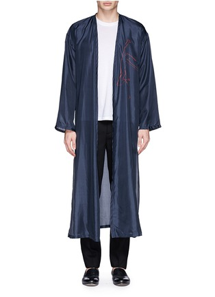 Main View - Click To Enlarge - Dries Van Noten - 'Vellano' dancer print silk robe