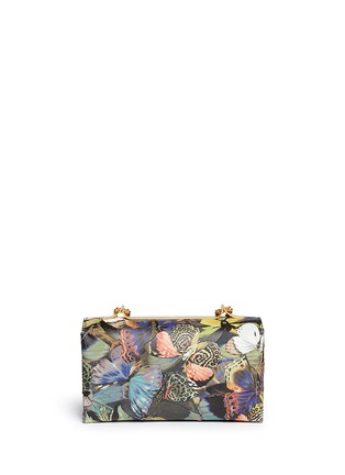 Back View - Click To Enlarge - Valentino - 'Camubutterfly Va Va Voom' nappa leather bag