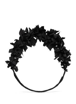 Main View - Click To Enlarge - YUNOTME BY GLORIA YU - 'Flock' silk flare crown headband