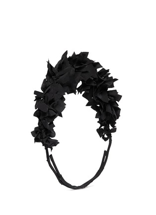 Figure View - Click To Enlarge - YUNOTME BY GLORIA YU - 'Flock' silk flare crown headband