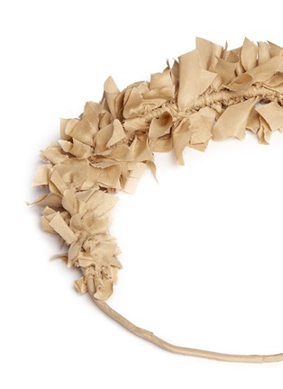 Detail View - Click To Enlarge - Yunotme - 'Flock' silk flare crown headband