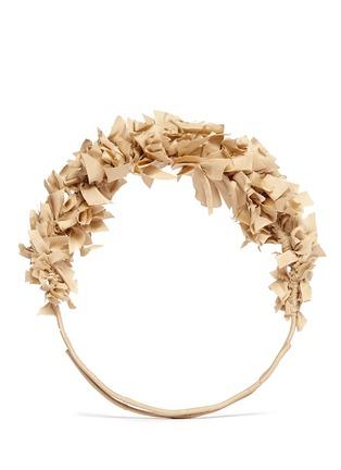 Main View - Click To Enlarge - Yunotme - 'Flock' silk flare crown headband