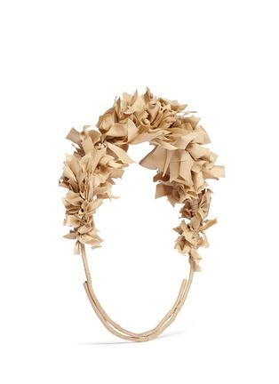 Figure View - Click To Enlarge - Yunotme - 'Flock' silk flare crown headband