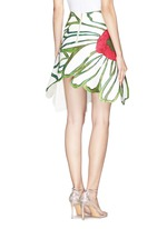 Illustrated flower patchwork skirt