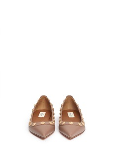 VALENTINO Gryphon stud leather flats