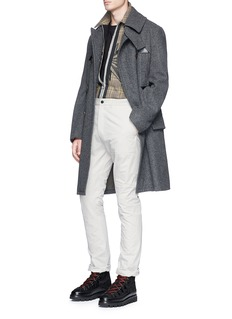 Lanvin Cotton-linen hopsack pants