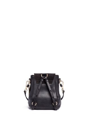 Detail View - Click To Enlarge - Chloé - 'Faye' mini suede flap leather backpack