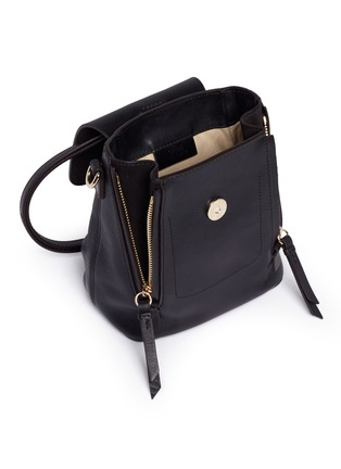 - Chloé - 'Faye' mini suede flap leather backpack