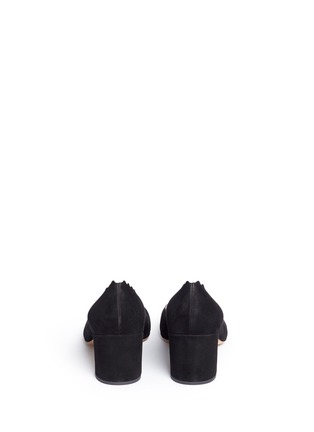 Back View - Click To Enlarge - Chloé - 'Lauren' scalloped suede pumps