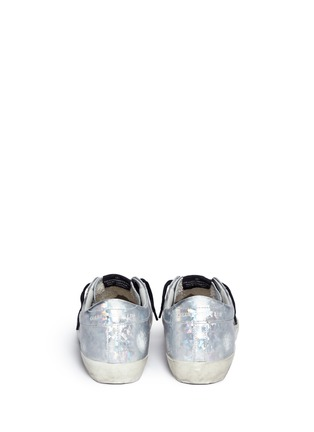 Back View - Click To Enlarge - Golden Goose - 'Superstar' shattered print holographic leather sneakers