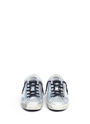 Front View - Click To Enlarge - Golden Goose - 'Superstar' shattered print holographic leather sneakers