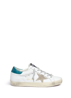 Golden Goose'Superstar' star patch smudged leather sneakers