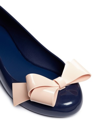 Detail View - Click To Enlarge - Melissa - 'Space Love IV' bow PVC flats