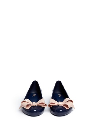 Front View - Click To Enlarge - Melissa - 'Space Love IV' bow PVC flats