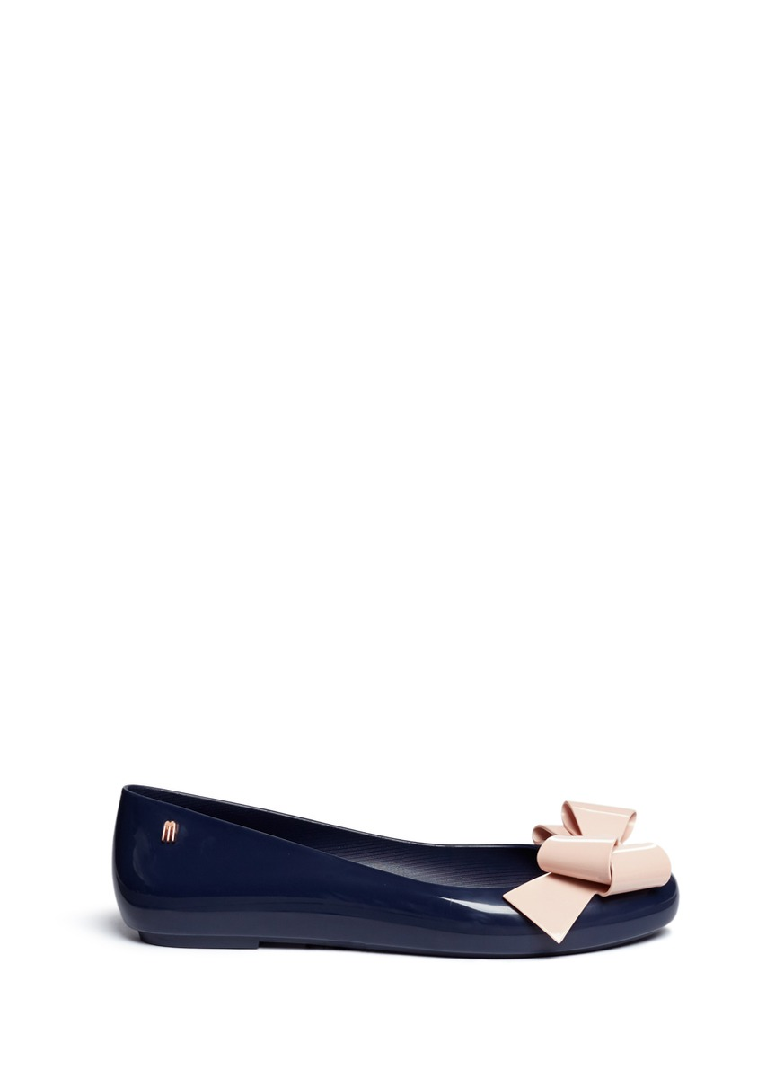 Space Love IV bow PVC flats by Melissa