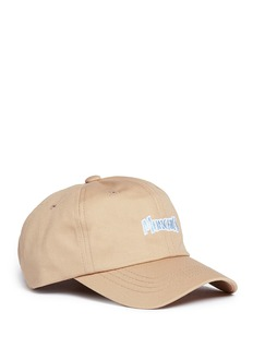 Pound'Munchies' slogan cotton twill baseball cap