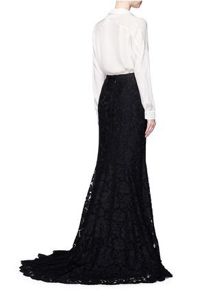 Back View - Click To Enlarge - Oscar de la Renta - Floral lace mermaid skirt