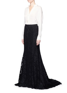 Oscar de la Renta Floral lace mermaid skirt