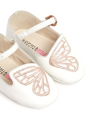 Detail View - Click To Enlarge - Sophia Webster - 'Bibi Butterfly Baby' embroidered leather infant Mary Jane flats