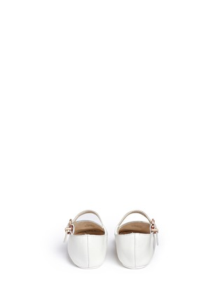 Back View - Click To Enlarge - Sophia Webster - 'Bibi Butterfly Baby' embroidered leather infant Mary Jane flats