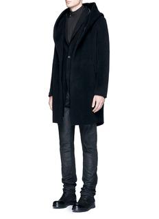 The Viridi-anneWool blend bouclé coat
