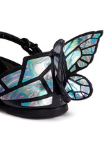 'Chiara Mini' holographic butterfly suede toddler Mary Jane flats